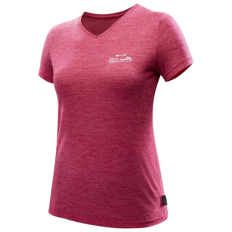 Damska koszulka trekkingowa z wełny merynosa Forclaz Travel 500 @ Decathlon