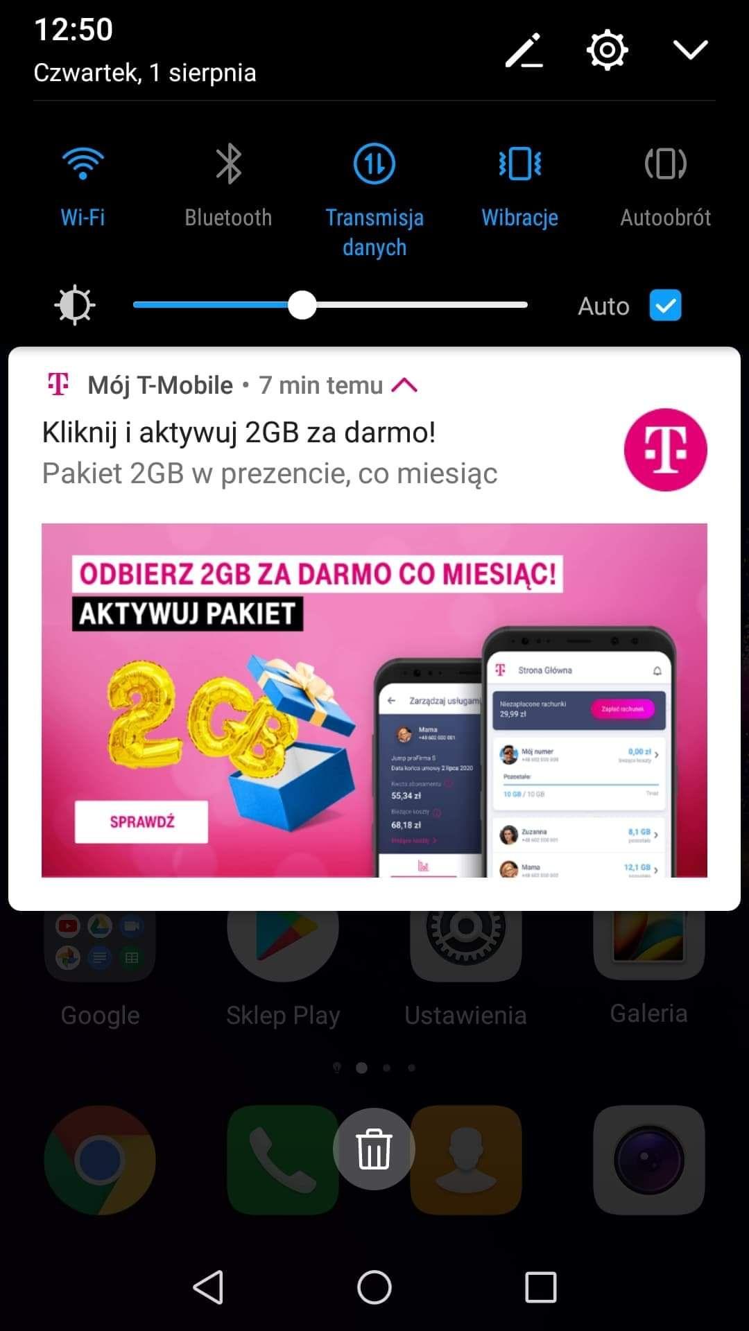 T- mobile za darmo 2gb co miesiąc