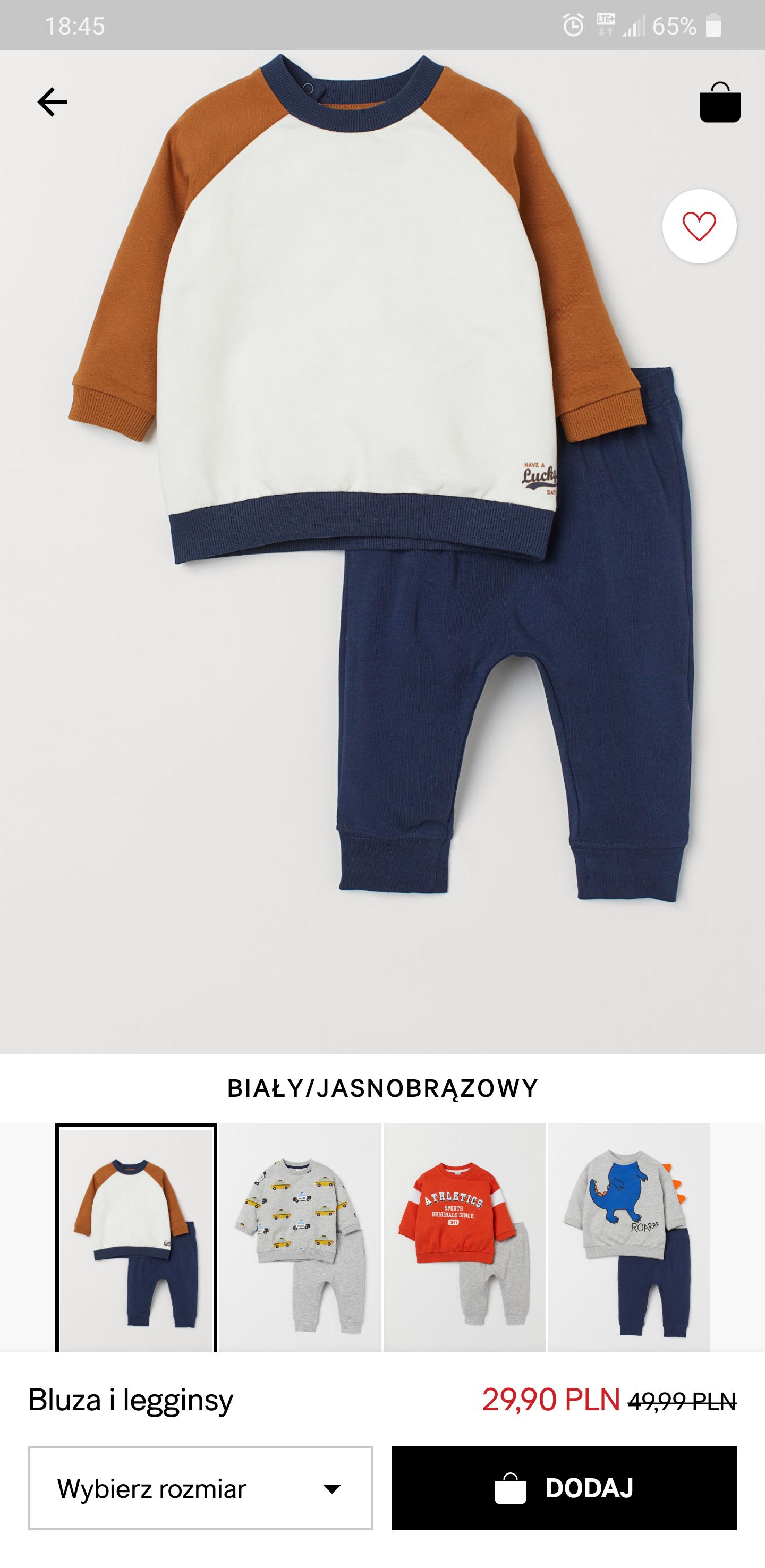 Komplet bluza i spodnie chłopięce h&m
