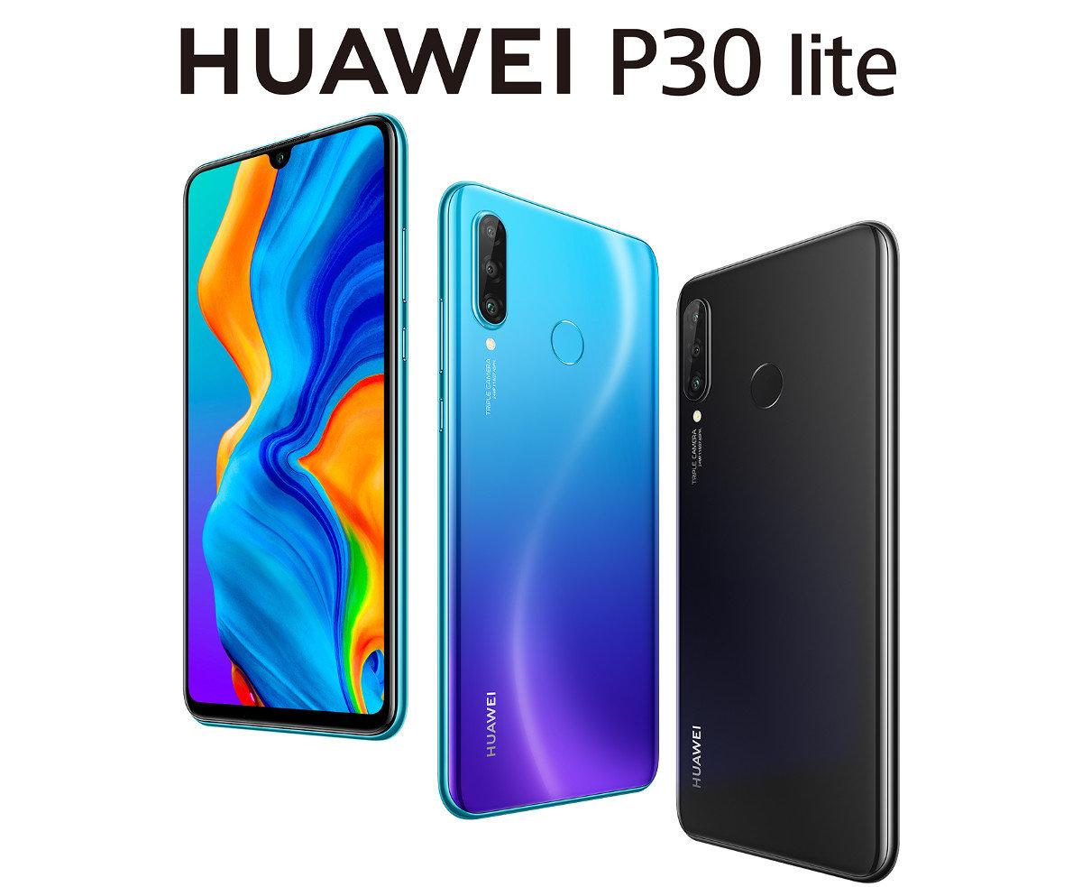 Smartfon HUAWEI P30 Lite Niebieski + Czarna opaska