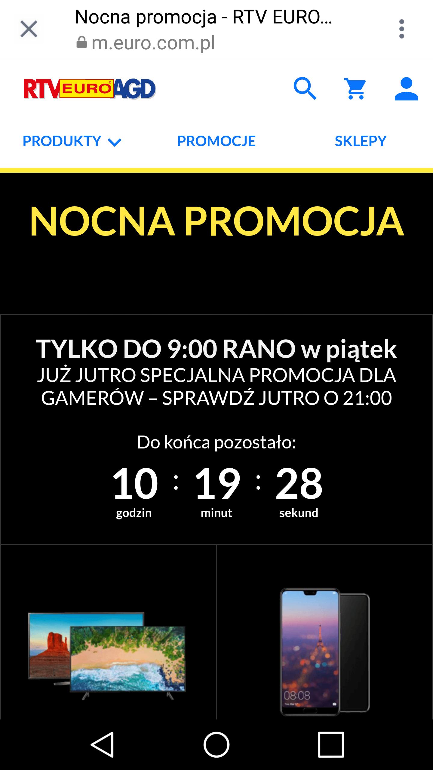 Nocna promocja euro.com.pl RTV euro AGD
