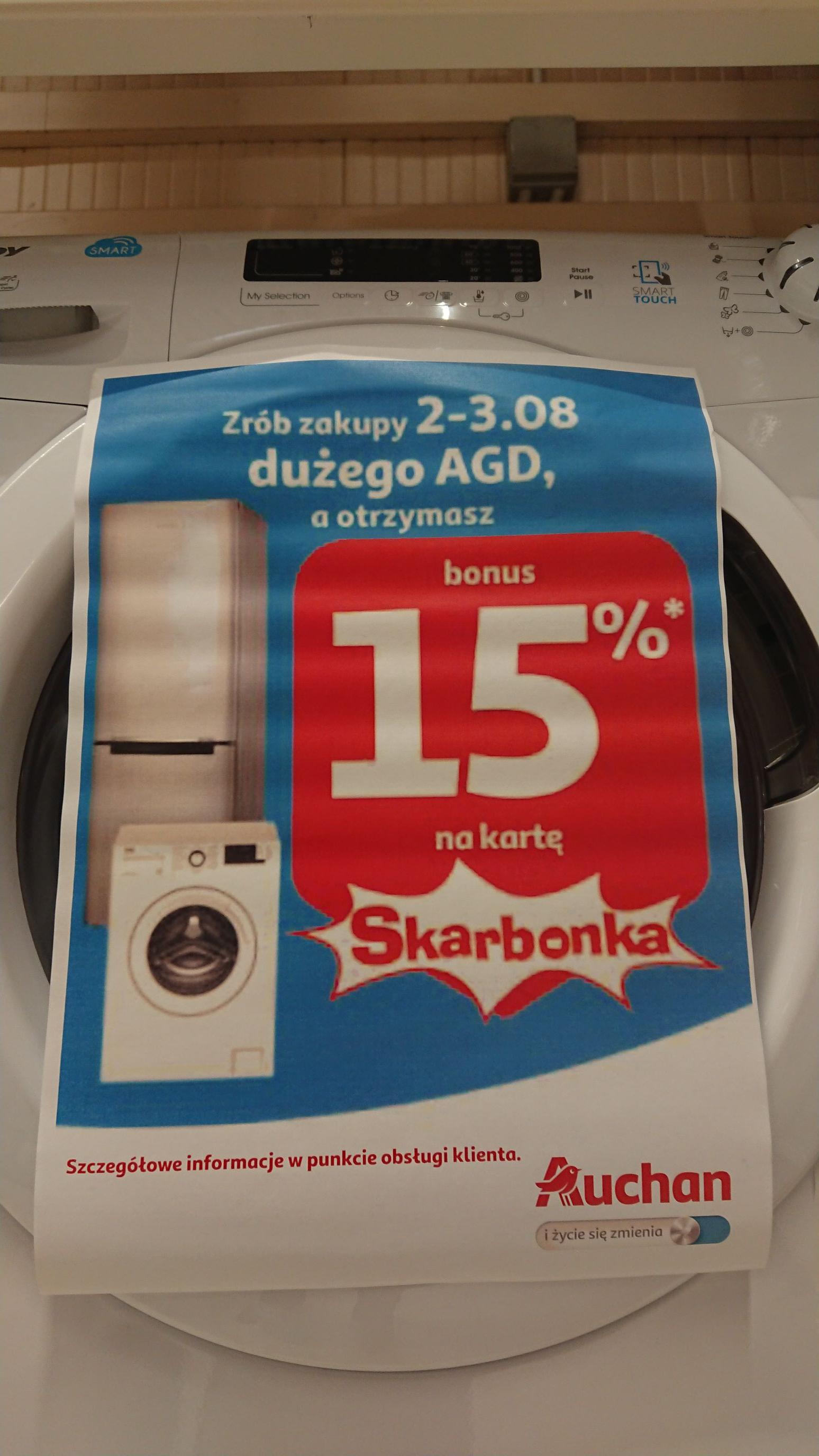 15% na kartę Skarbonka za duże AGD w Auchan