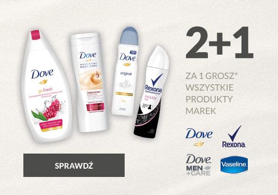 Drogeria Natura 2+1 Dove, Dove Men, Rexona, Vaseline