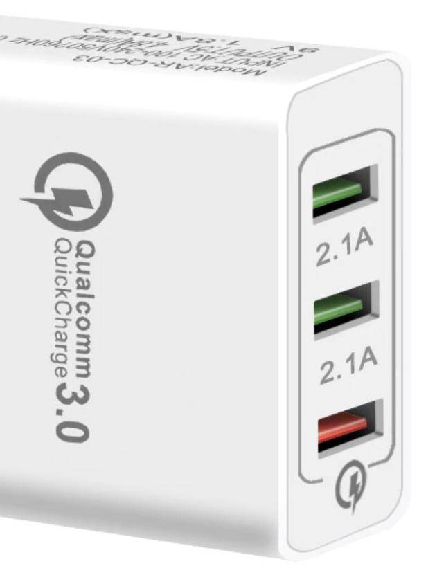 Ładowarka 3 x USB w tym jeden port QualComm 3.0