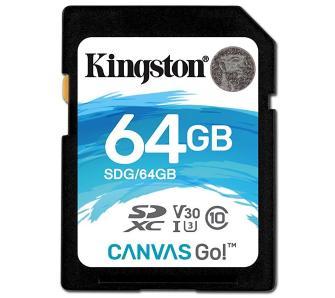 Karta pamięci Kingston Canvas Go SDXC 64GB UHS-I