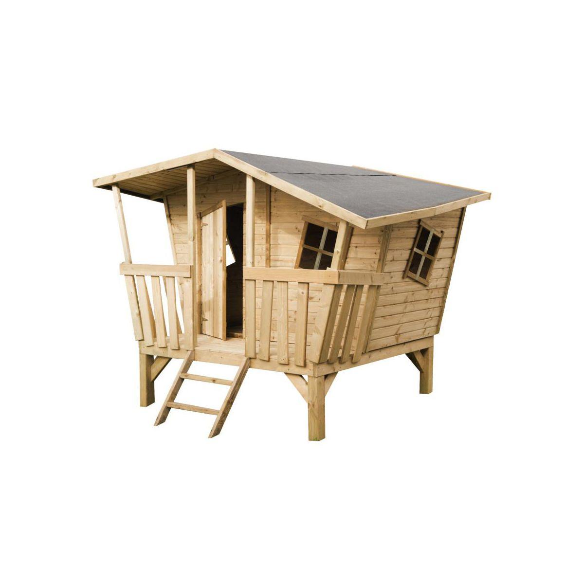 Domek drewniany dla dzieci CRAZY 245 x 180 x 205 cm WERTH-HOLZ