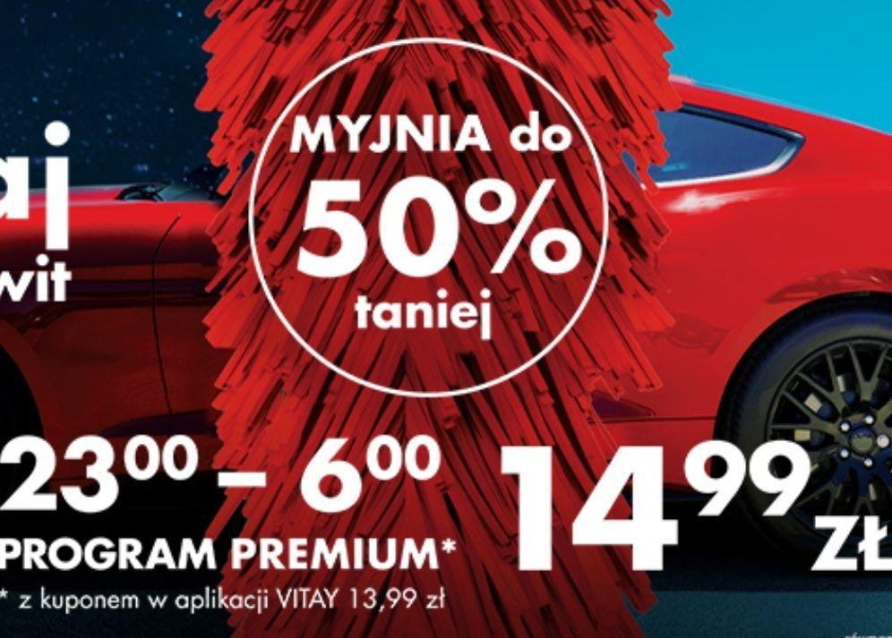 Myjnia Orlen Premium za 13.99 z kuponem w aplikacji