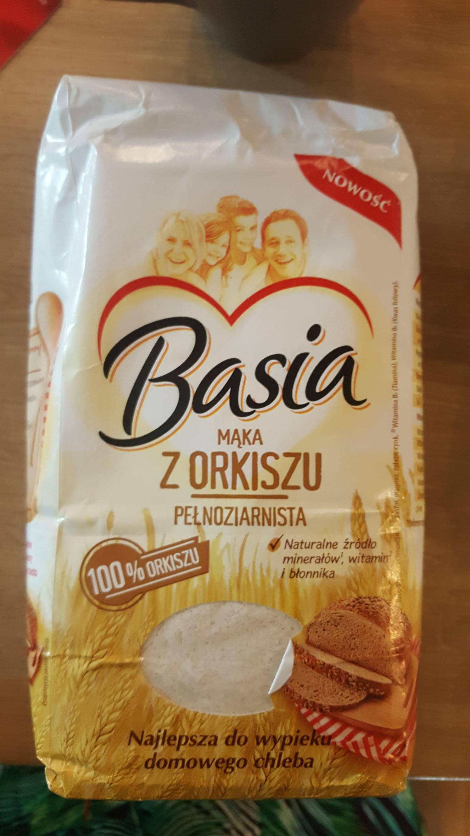 Mąka pełnoziarnista z orkiszu biedronka