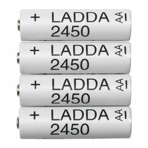 Akumulatorki Ladda zestaw (8 sztuk: 4 AA i 4 sztuki AAA)