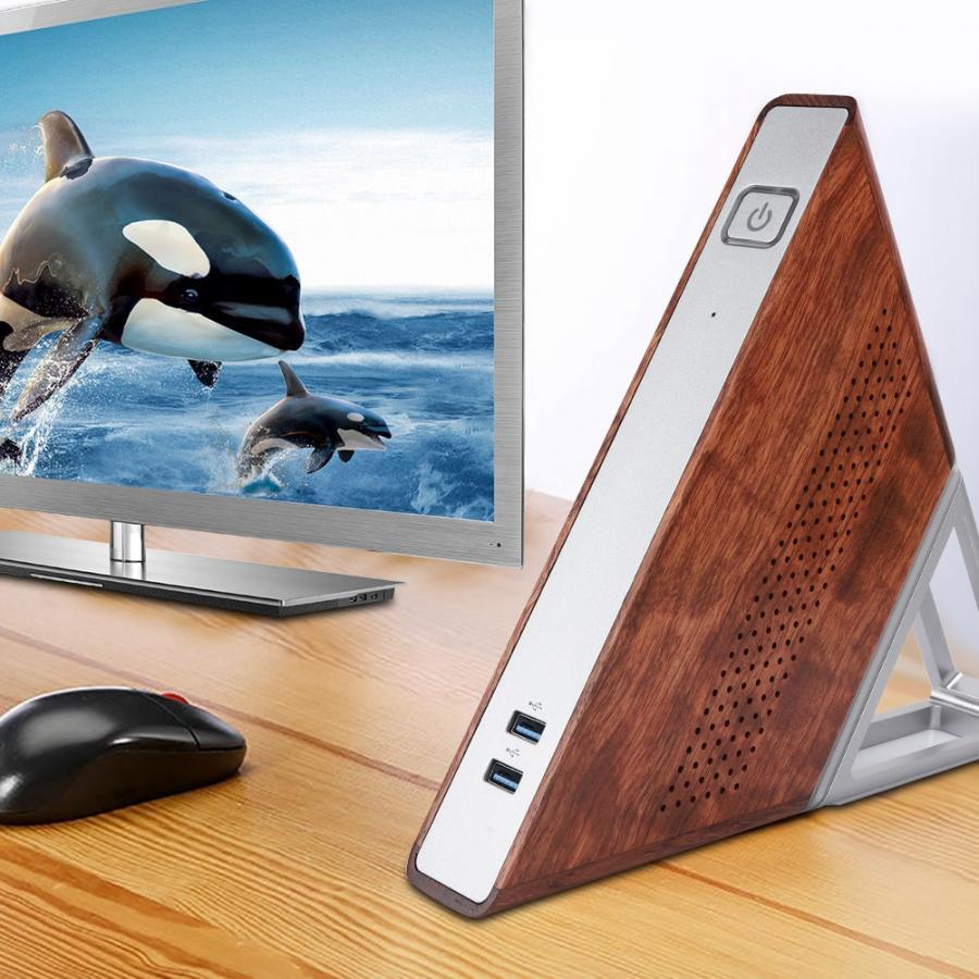 Mini PC Acute Angle AA - Appolo N3450, 8Go RAM, 64Gb eMMC, 128Gb SSD, Gigabit, 3 USB 3.0