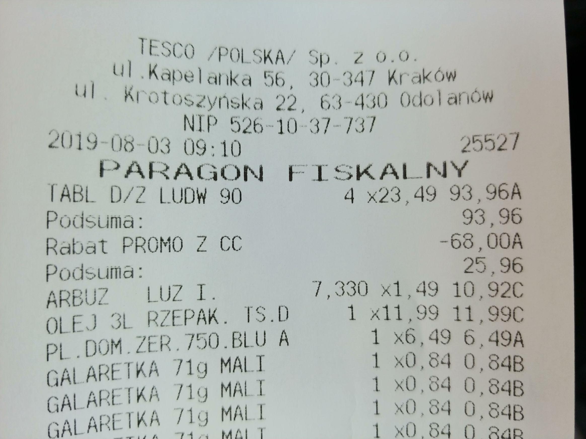 Tabletki do zmywarki Ludwik All In One 80/90 sztuk Tesco z ClubCard