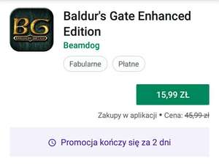 Google Play - Baldur's Gate Enhanced Edition