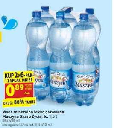 Woda Muszyna 1,5 litra najtaniej w historii @Biedronka