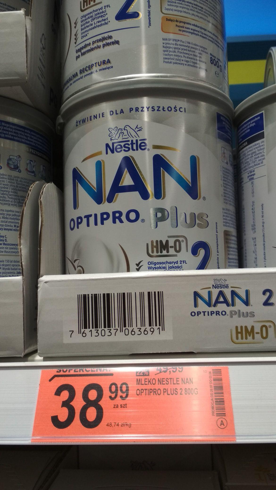 Mleko Nan Optipro plus 2,3 i 4 @ Biedronka