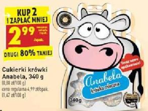 Cukierki krówki Anabela 340 g Biedronka 8.80 zł/kg