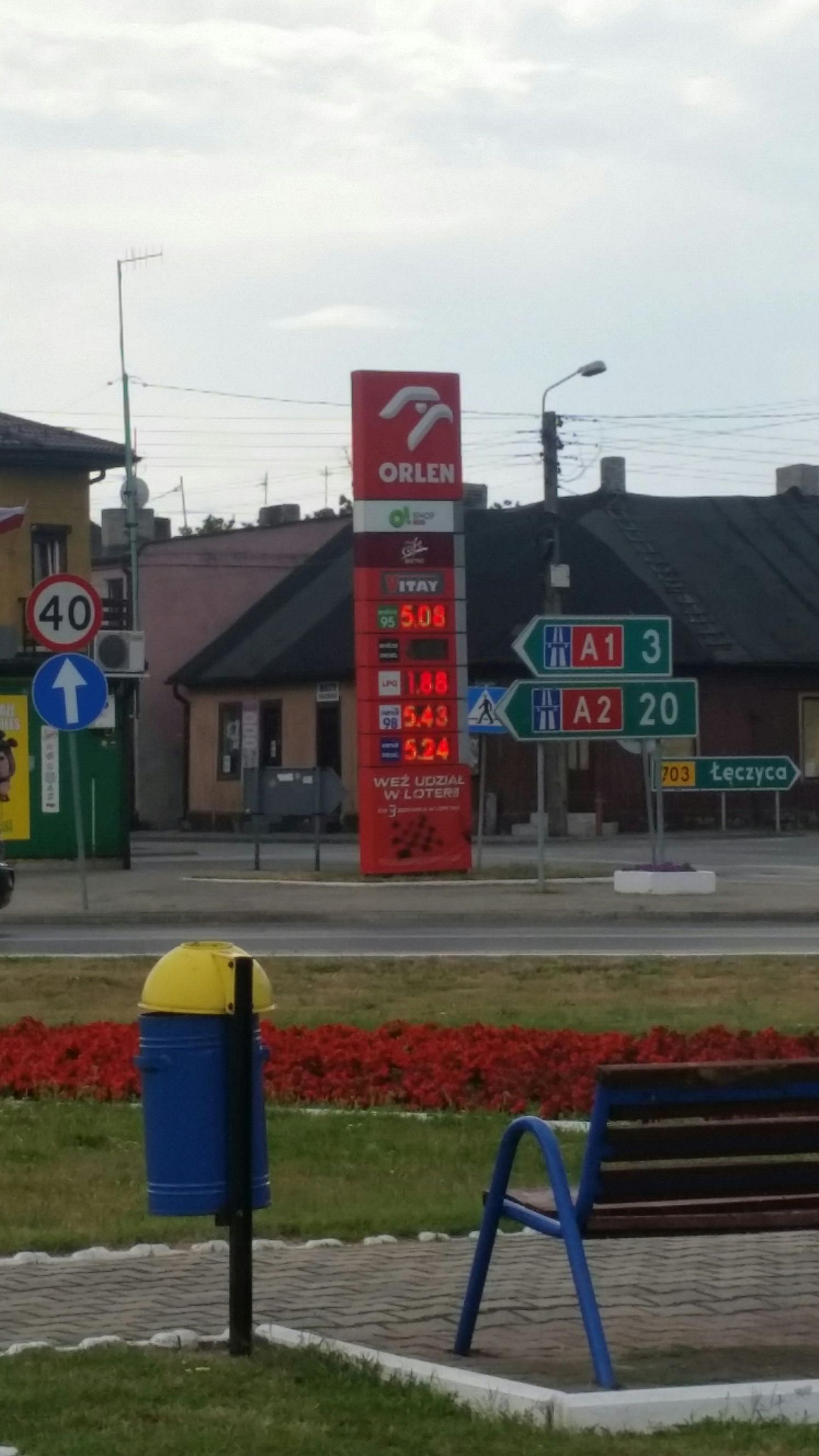 LPG za 1.88zł/l w Piątku