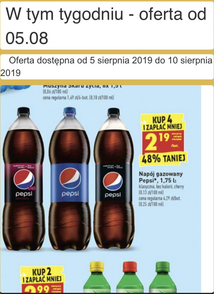 Pepsi 4x1,75l w biedronce