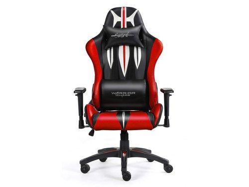 Fotel gamingowy WARRIOR CHAIRS Sword kolor czerwony czarny