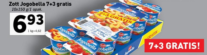 Pakiet 10 jogurtów Jogobella 150 g