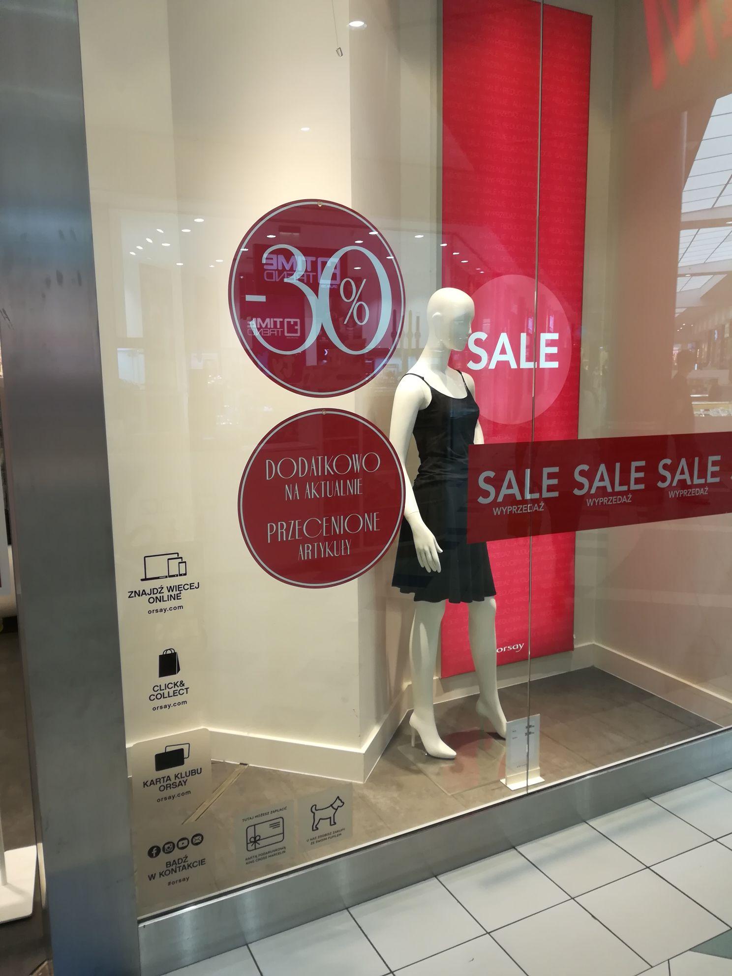 Dodatkowe - 30% na wyprzedaż Orsay stacjonarnie
