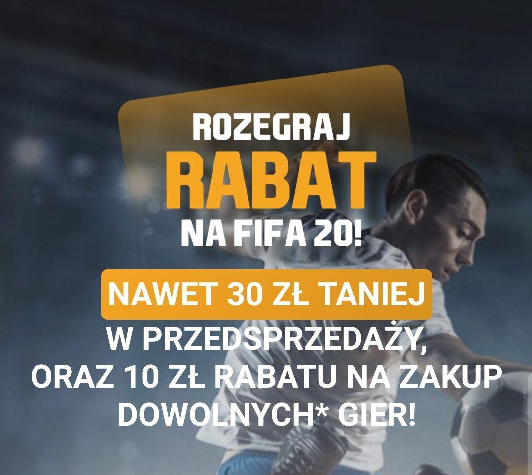 Rabat na Fifa 20 w przedsprzedaży ale nie tylko.