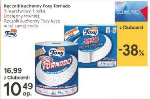 Ręczniki papierowe Foxy Tornado i Foxy Asso taniej z kartą CC (z kuponem 7,49zł)