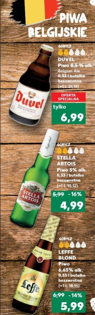 Piwa belgijskie: Duvel, Leffe Blonde, Stella Artois @ Kaufland