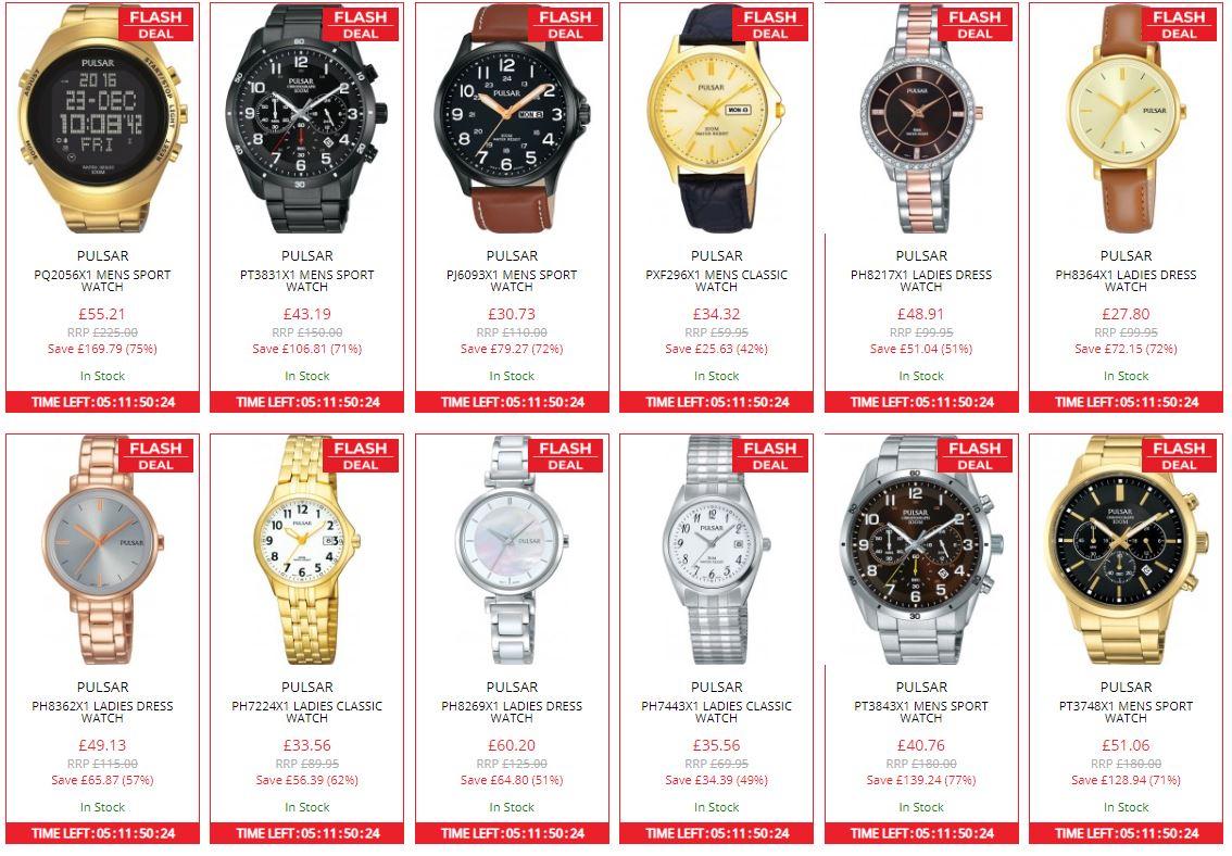 75 modeli zegarków PULSAR do 75% taniej (ceny od 130,50zł) @ Watches2u