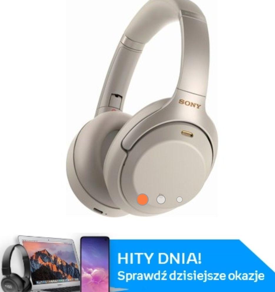 Słuchawki Sony WH-1000 XM3 srebrne
