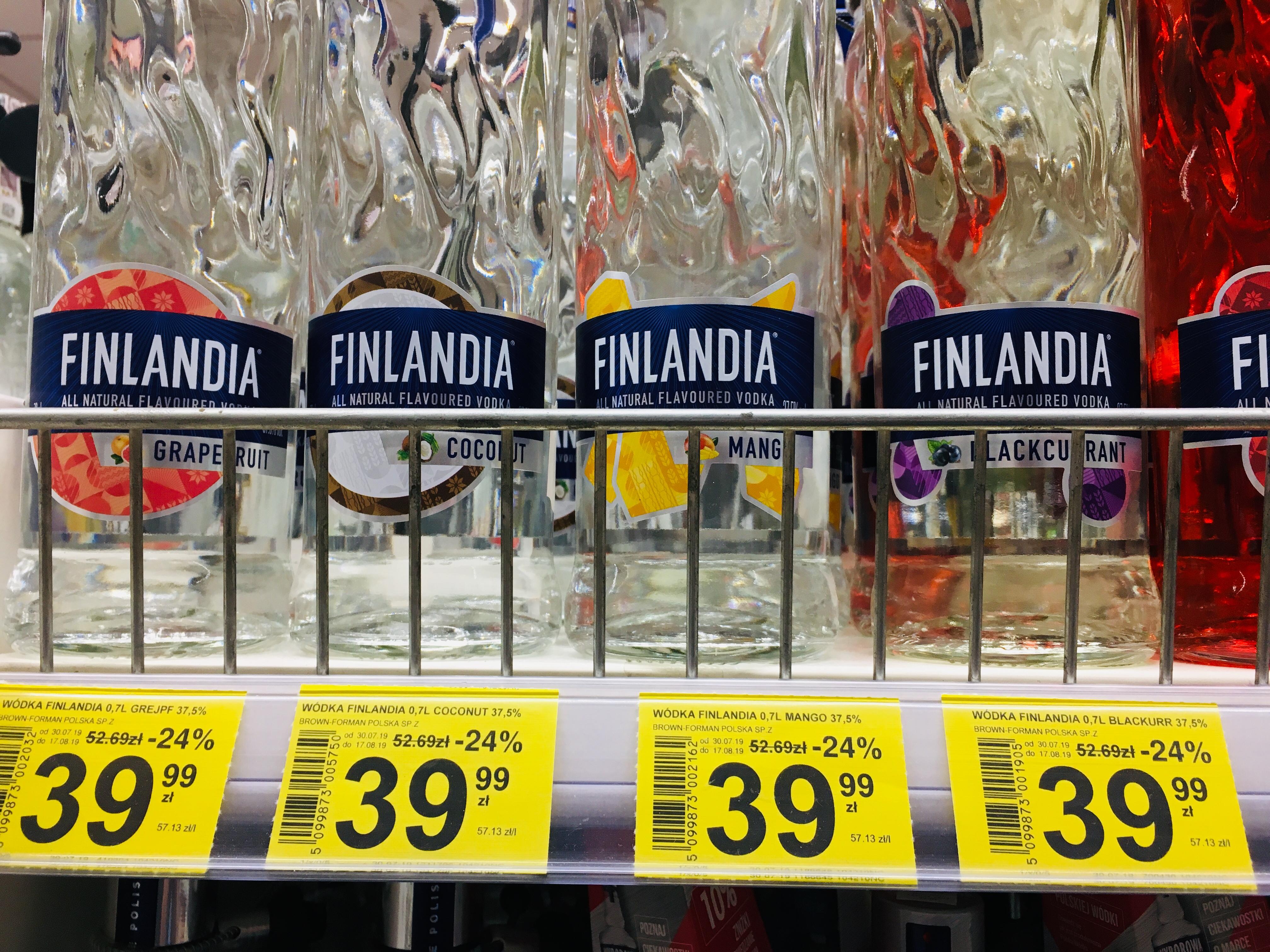 Finlandia 0.7 wszystkie smaki