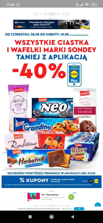 Lidl, Ciastka i wafelki marki Sondey -40%