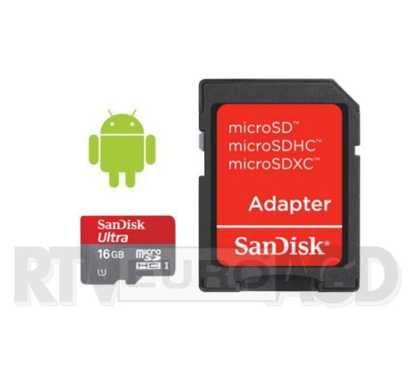 TYLKO DZISIAJ, SanDisk microSDHC Class 10 16GB  @ RTV EURO AGD