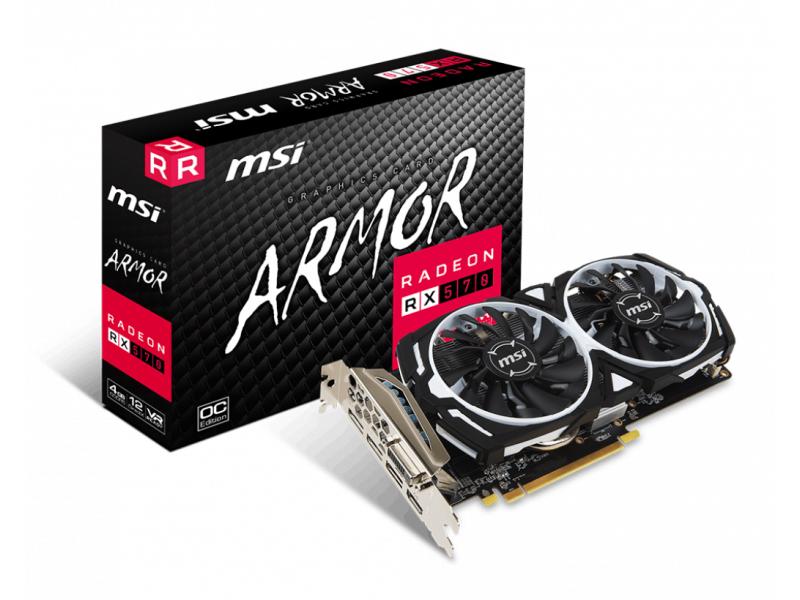 MSI Radeon RX 570 ARMOR OC 4GB GDDR5 + 3-miesięczny dostęp do Xbox Game Pass dla PC