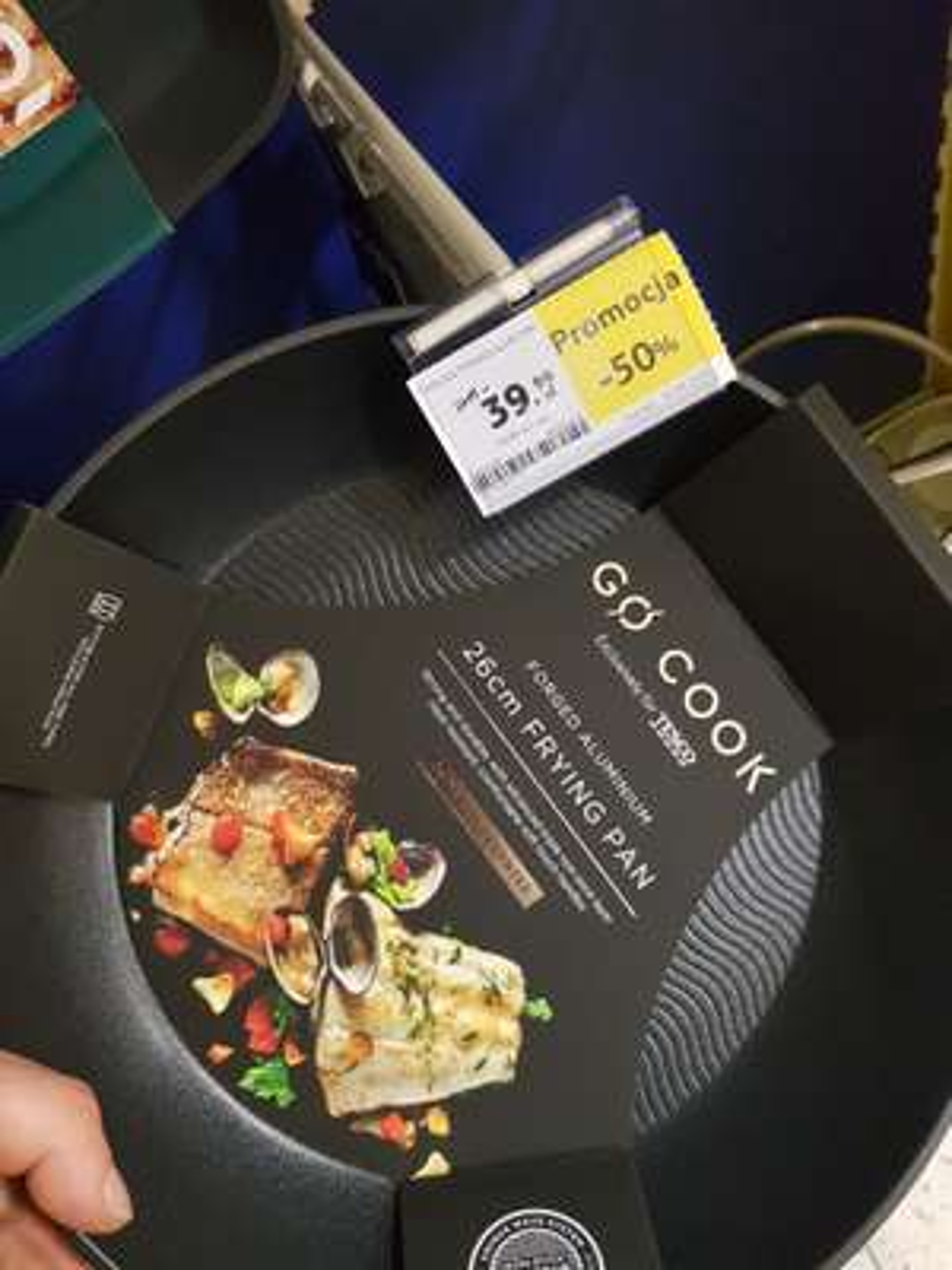 TESCO -50% Patelnia GO COOK i inne