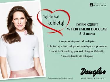 Makijaż GRATIS oraz 50% zniżki na kosmetyki @ Douglas