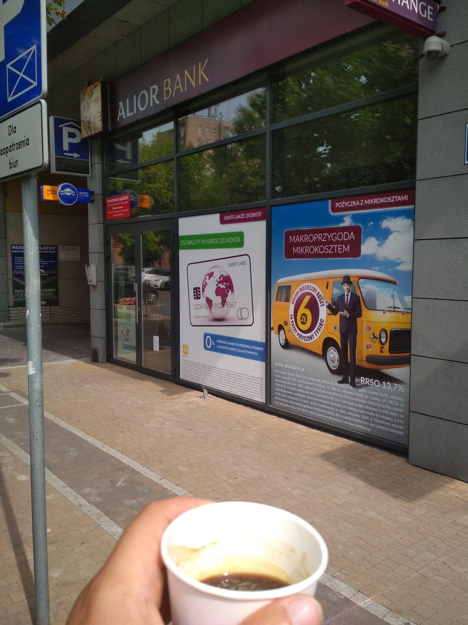 Darmowa kawa w Alior Bank Pruszków