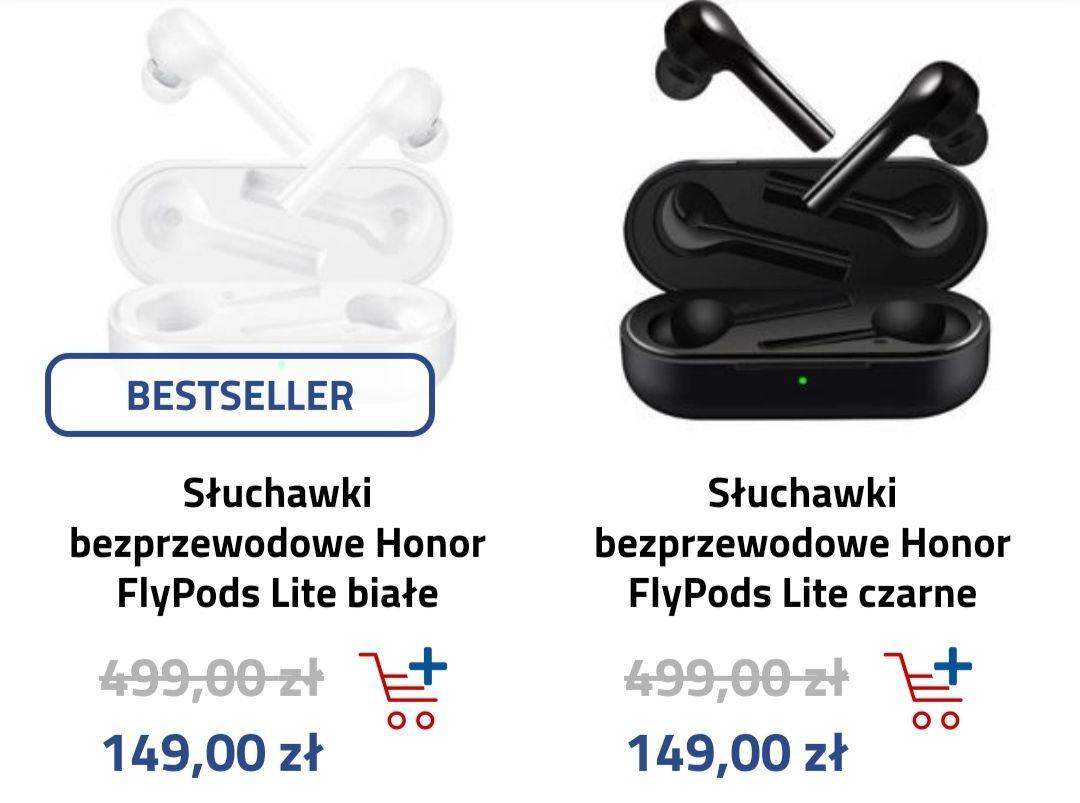 Honor Flypods lite czarne i białe