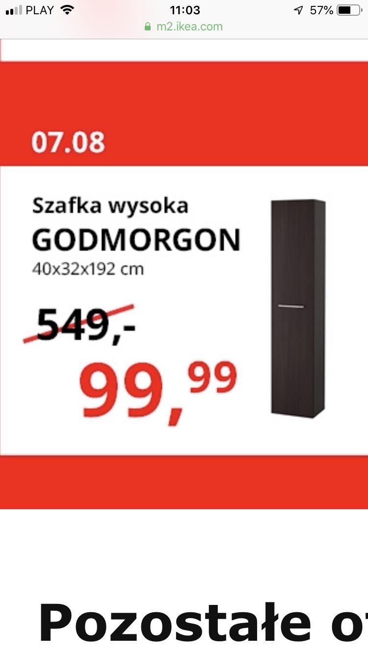 Szafka Godmorgon 192cm wysokości 450 zł taniej @ Ikea