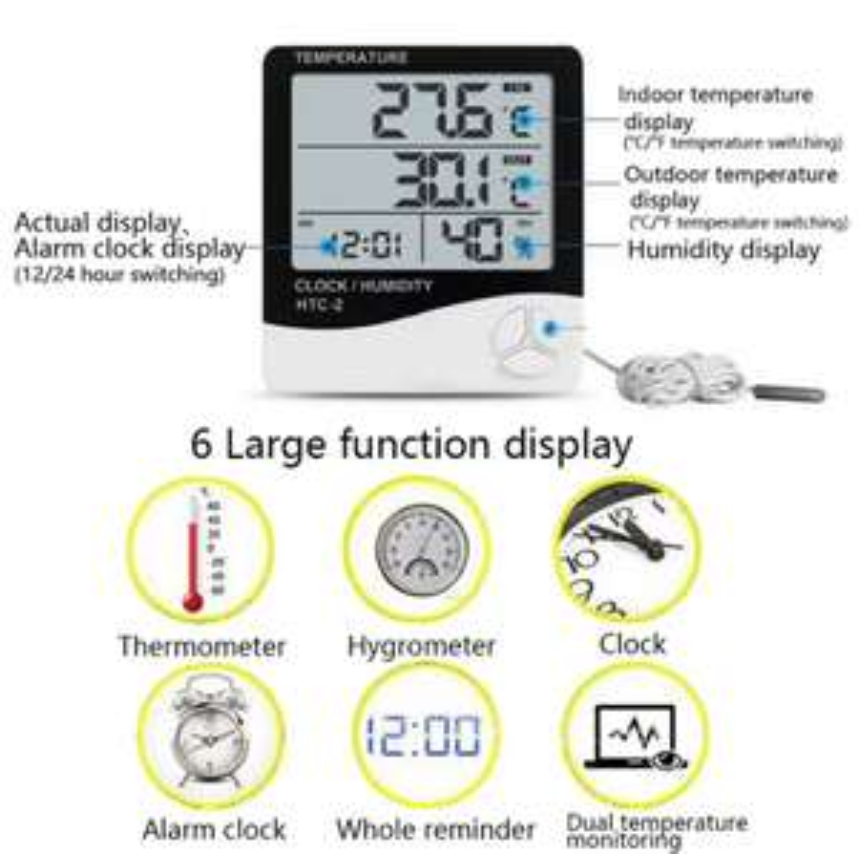 Termometr z dwoma odczytami temperatury
