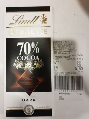Lindt Excellence Dark 70% oraz 78% kakao Carrefour