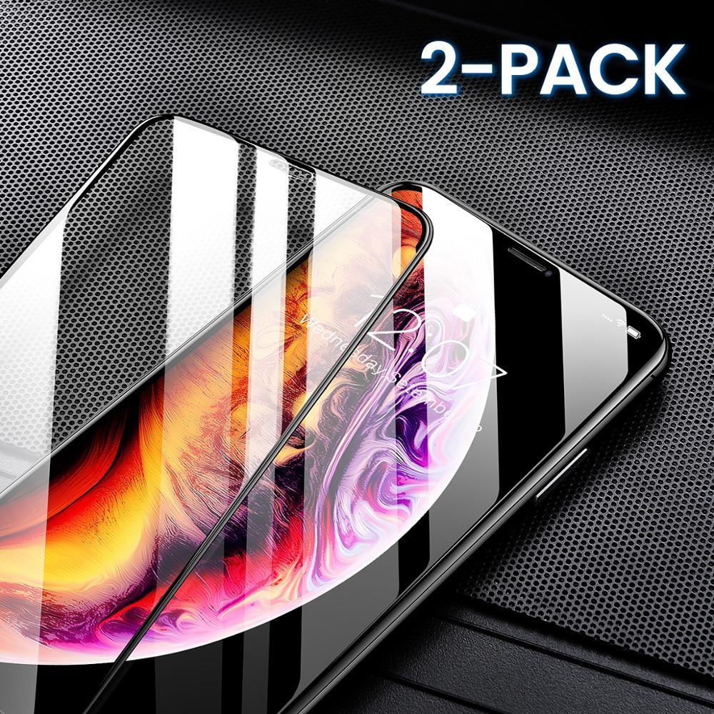 Pełna pokrywa ochraniacz ekranu szkło hartowane dla iPhone Xr X Xs max