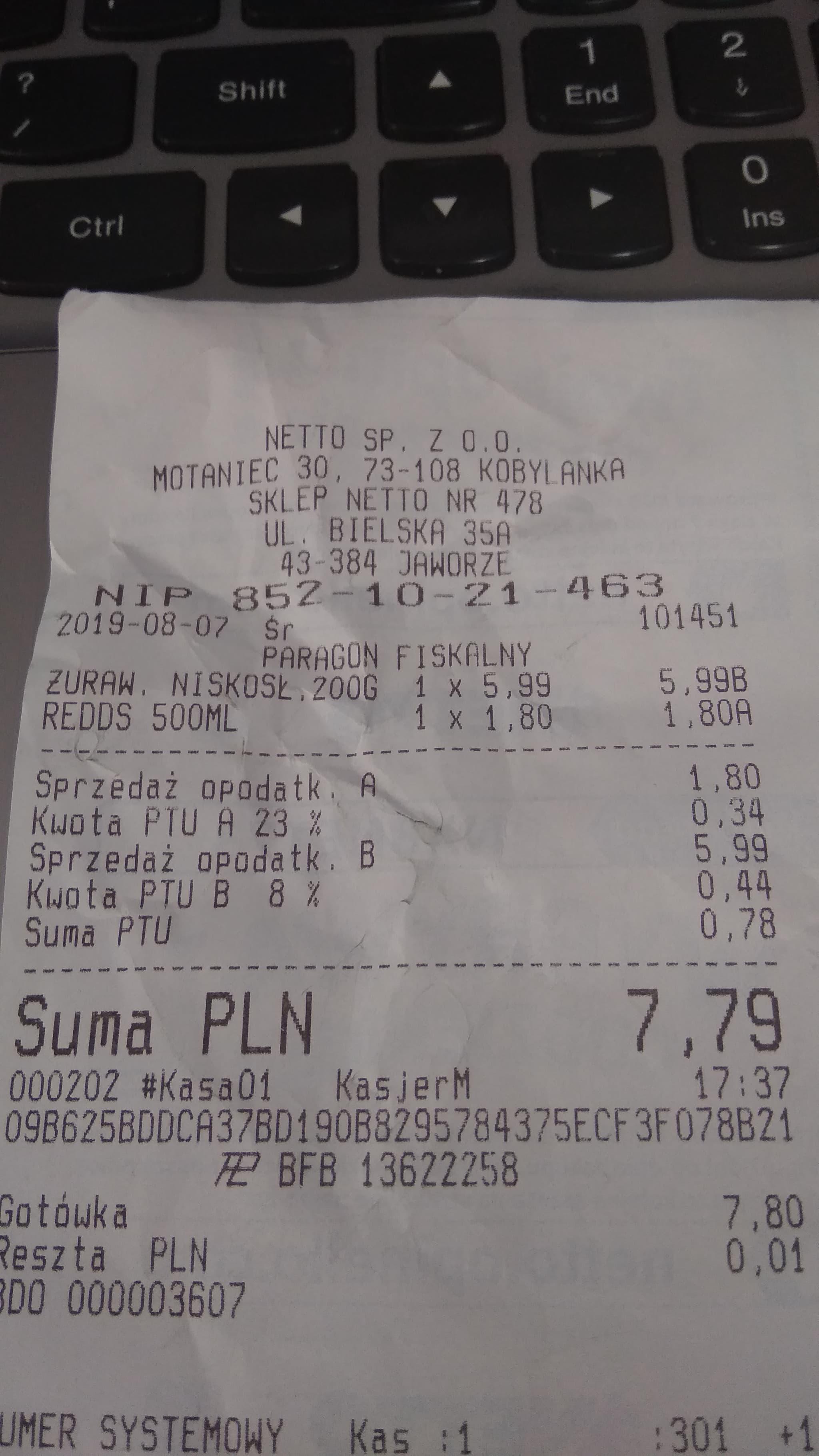 Piwo Redd's żurawina puszka 500 ml @Netto Jaworze k. Bielska-Białej