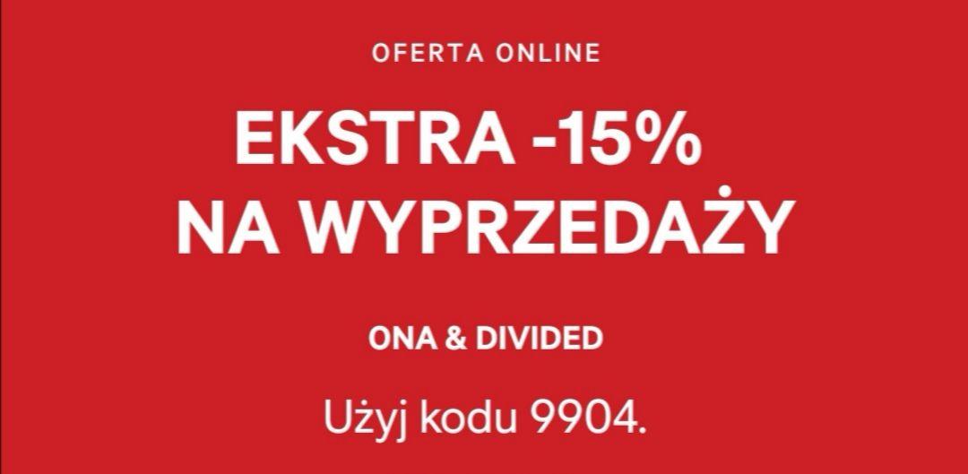H&M -15% na wyprzedaż dział ONA & Divided
