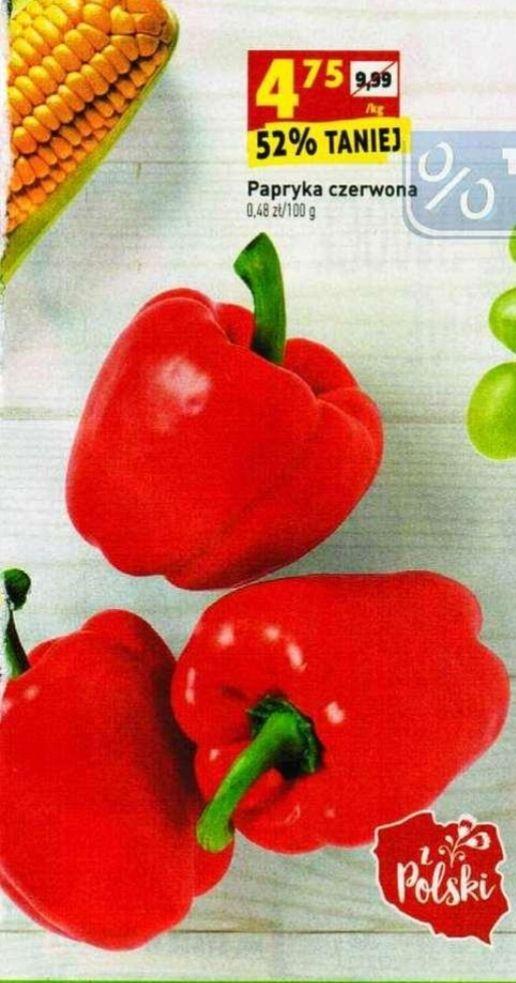 Papryka czerwona 4,75 zł/kg - Biedronka