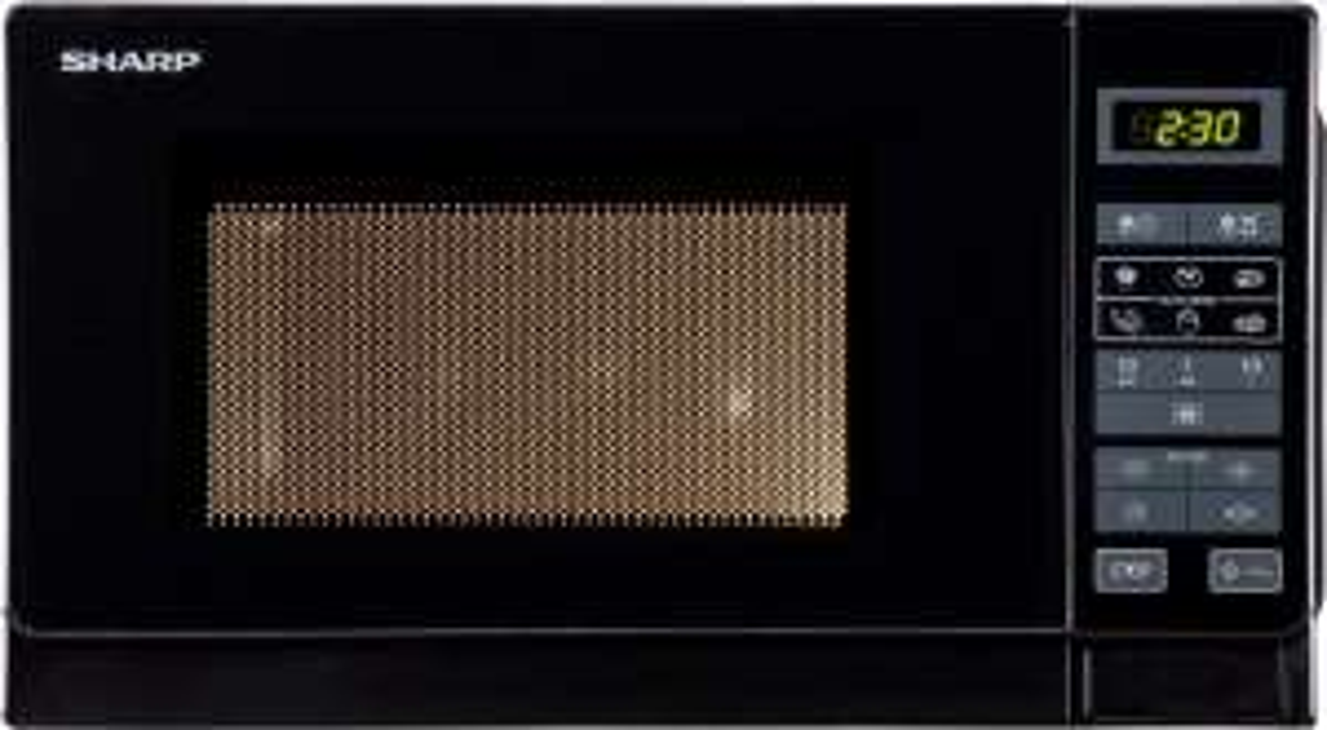 Kuchenka mikrofalowa Sharp R642BKW, 20L, 800W, 1000W grill- kwarcowy, a srebrna za 264zł