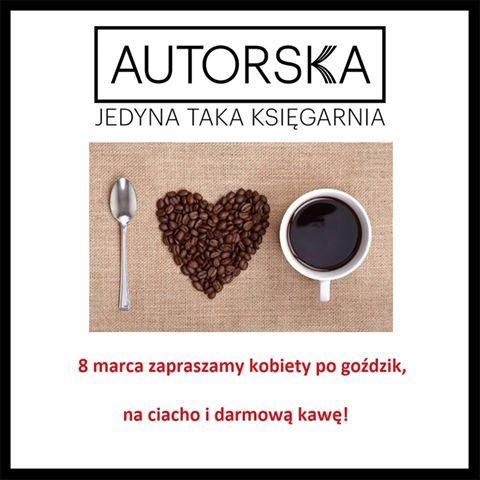 Goździk, ciastko i darmowa kawa dla wszystkich kobiet @ Autorska Księgarnia