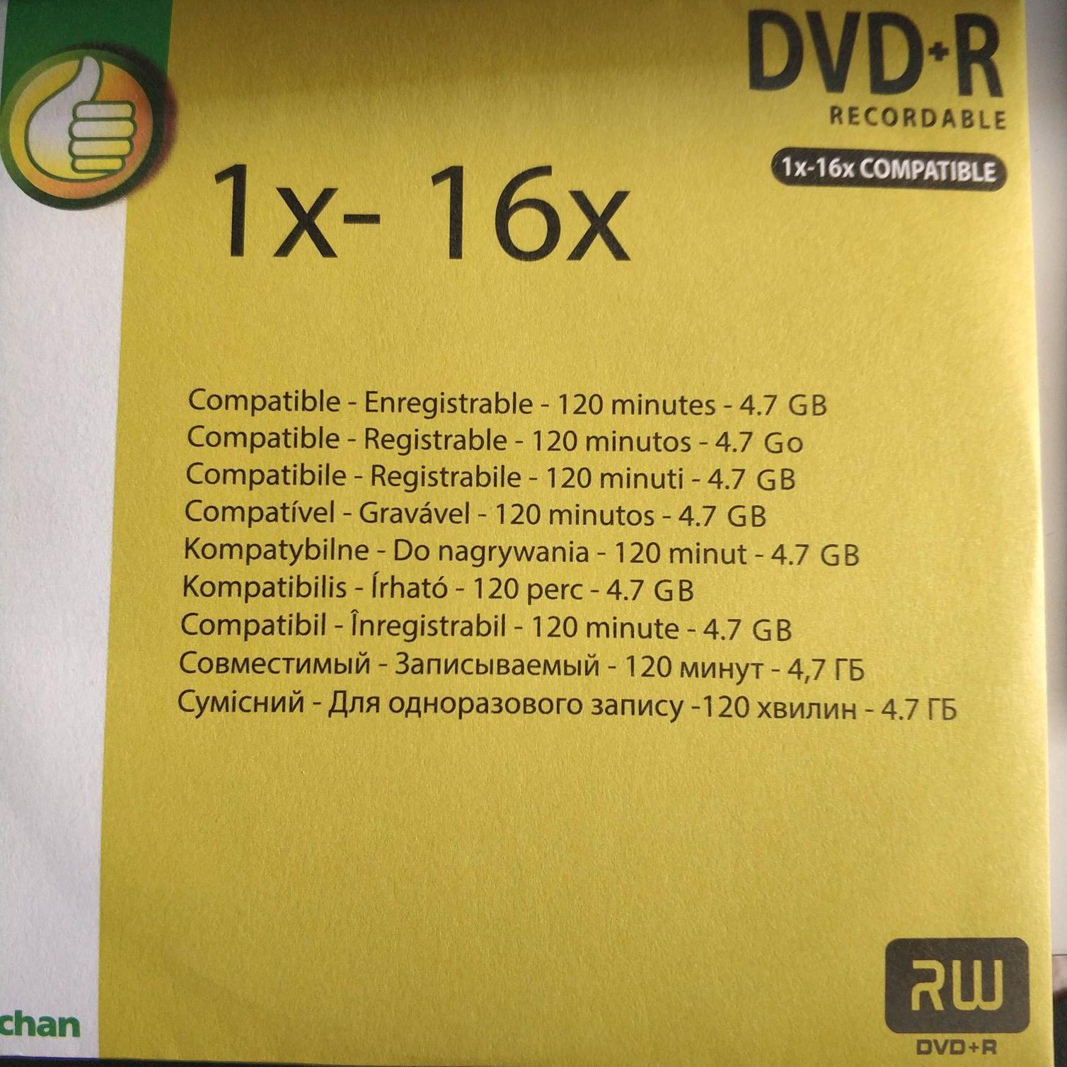 Płyta DVD +R 1-16x DVD RW auchan