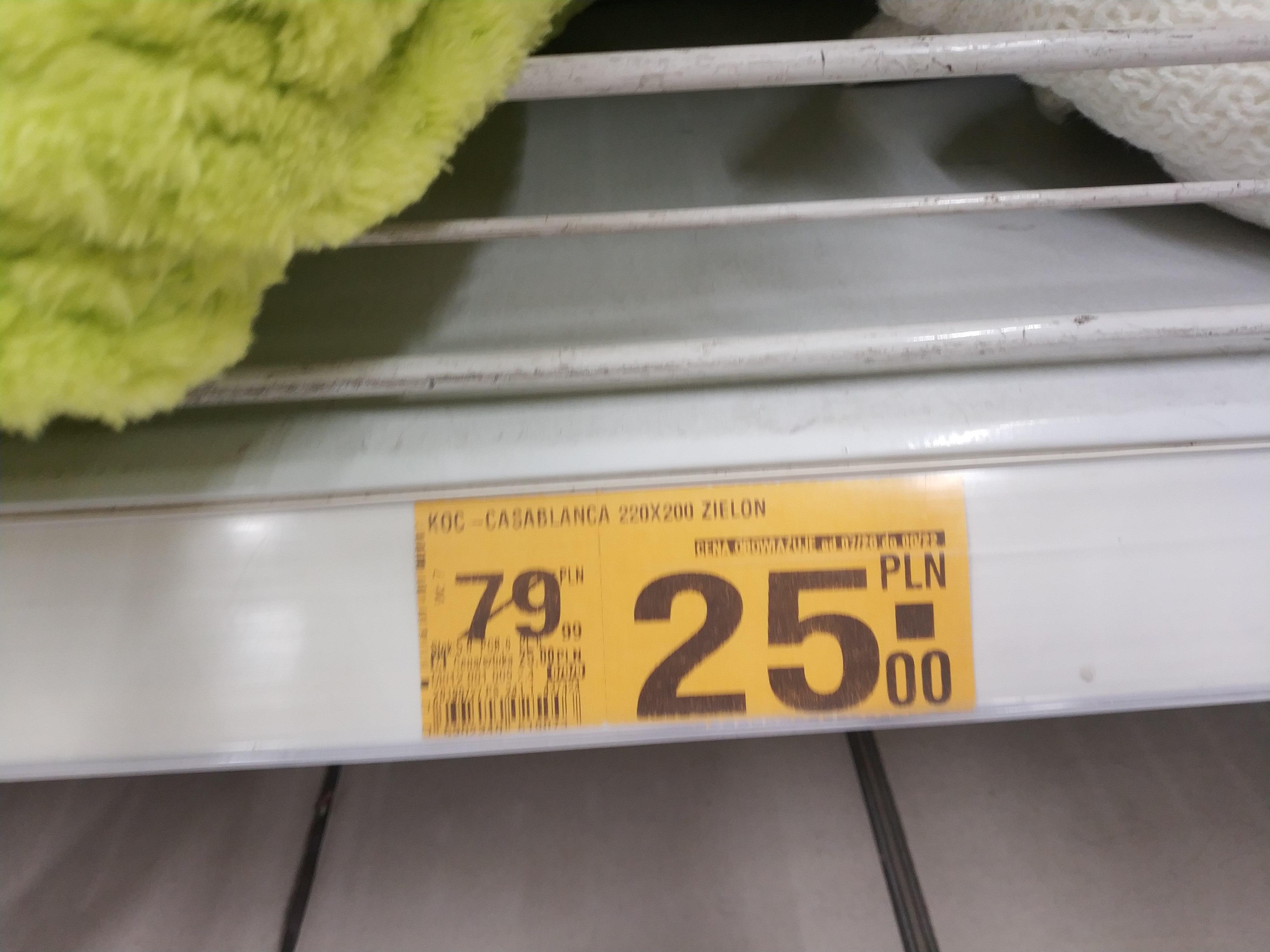Koce, poduszki, prześcieradła itp w Auchan (katowice)