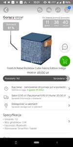 Gorący strzał Fresh N Rebel Rockbox Cube Fabriq Edition Indigo