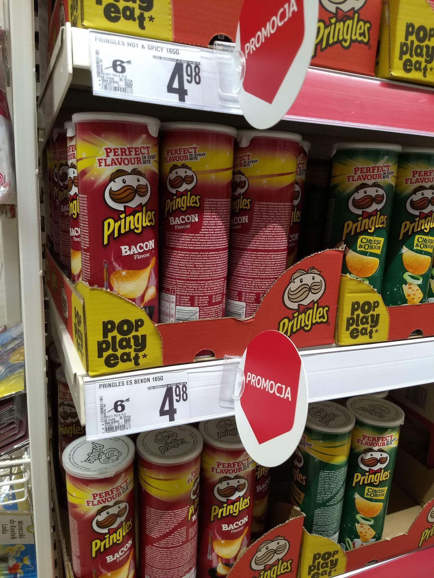 Promocja na pringles w Auchan - wygląda że wszystkie smaki.
